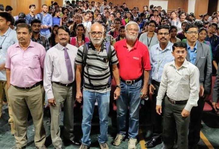 Prof Nayak and students