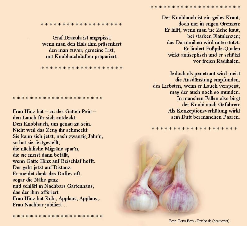 Gedichte bekanntschaft