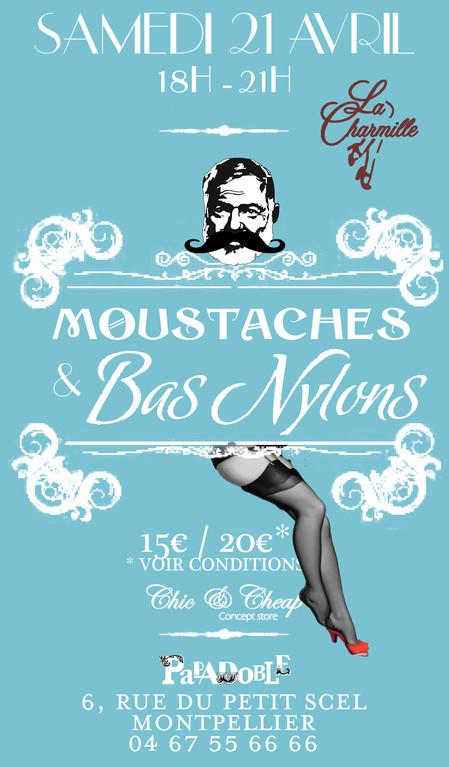 Soirée Mousatches et bas nylons, défilé de mode des pin up de la Charmille par Chic & Cheap Concept Store Montpellier