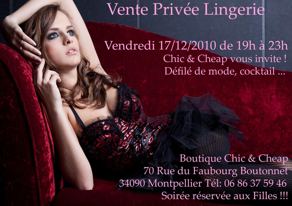 Vente privé Chic & Cheap Concept Store Montpellier