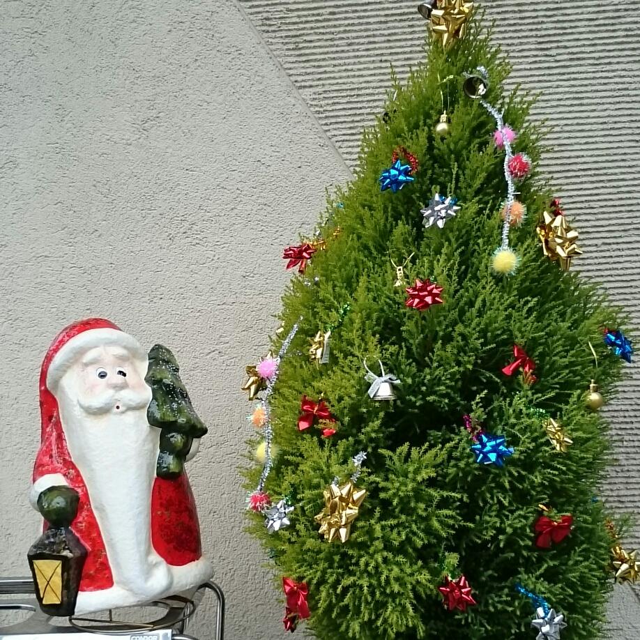 サンタクロースとツリーのお出迎え❄🎅⛄🎄❄