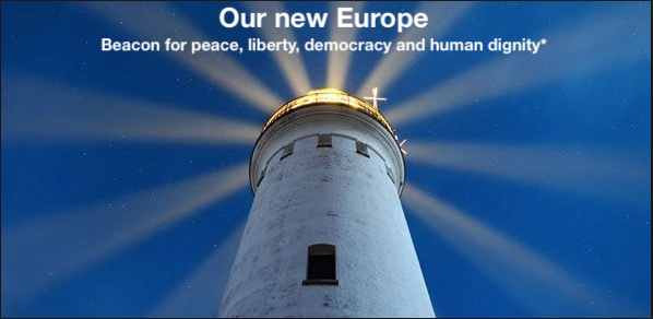 Image: Our New Europe - beacon for peace, liberty, democracy and human dignity - Peace project - Community of values!