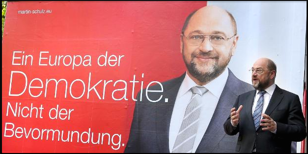 Image: A Euope of Democracy; Martin Schulz, EU elections 2014