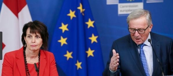 Rahmenvertrag Schweiz-EU - Juncker, Leuthard
