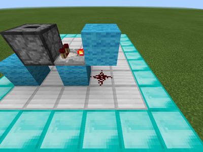 レッドストーンと信号を伝えるブロックの配置