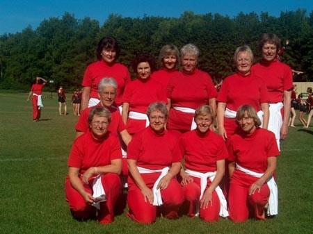 Das Fitness-Team am Eidgenössischen Turnfest in Frauenfeld 2007.