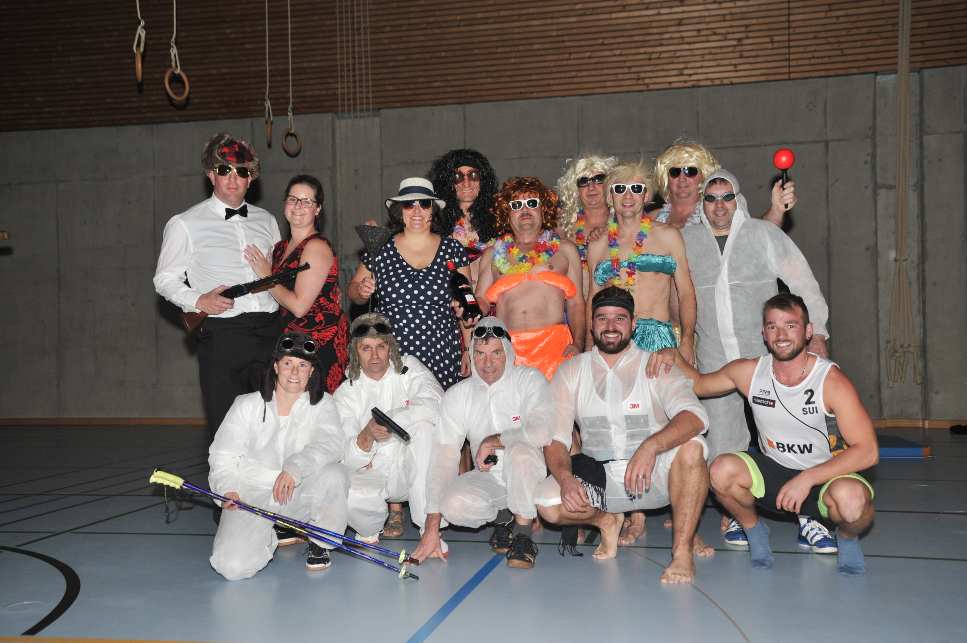 Die Mixed-Gruppe an der Turn-Show 2009