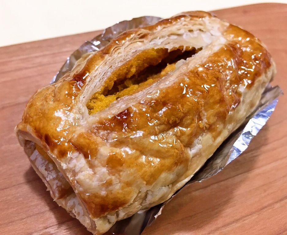 「かぼちゃのパイ」かぼちゃの甘味と外側のパイの相性がバッチリ。あぁ、秋だな♡と感じられる一品。