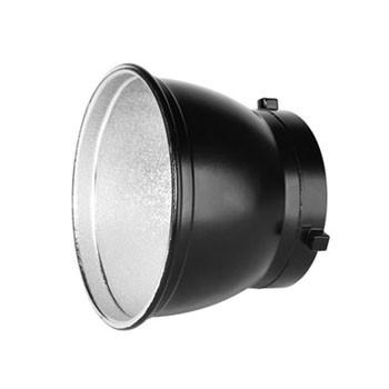 diverse Größen Reflektoren, Beauty Dish groß und klein, jeweils mit Diffusor oder Wabe