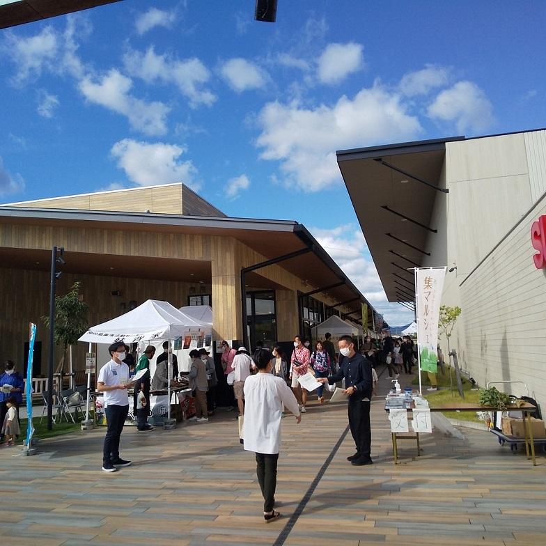 快晴の10月の日曜日、高知県集落活動センターのマルシェがありました・・。