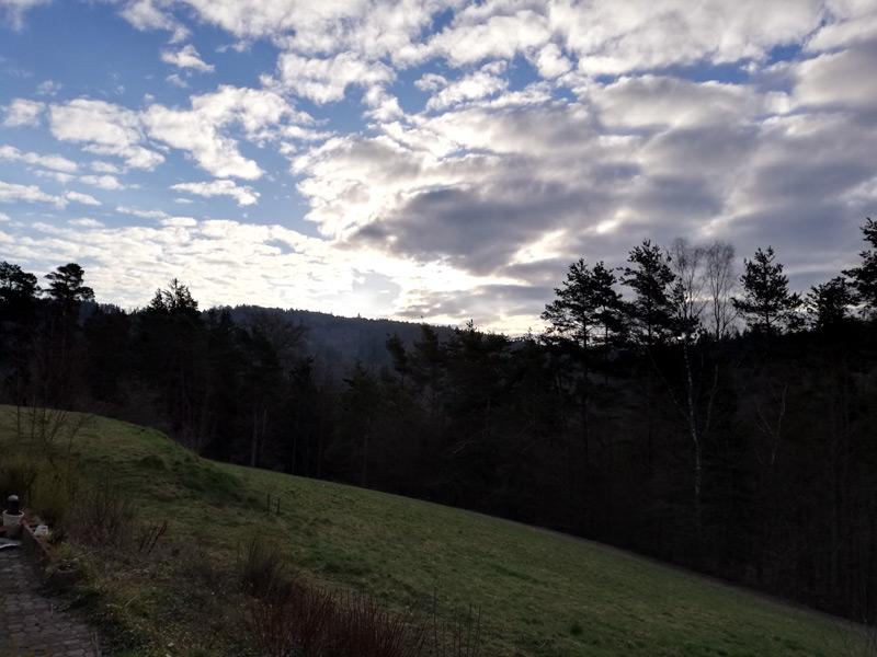 Morgendlicher Blick von Anjas Haus!