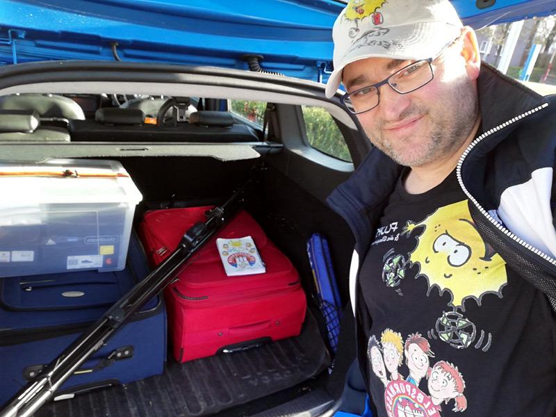 Viel Gepäck für die ElbspürTour 2019