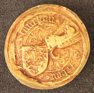 1501 - Sceau de Jean CAUCHON l'aîné, écuyer, seigneur de Sillery, Ludes et Puisieulx.