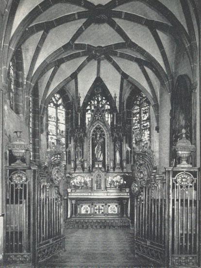 La grille de la chapelle de l'église de Saverne
