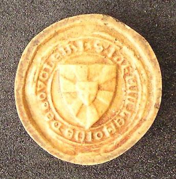 1332 - Sceau de Jacques Le Moine de Ludes, écuyer