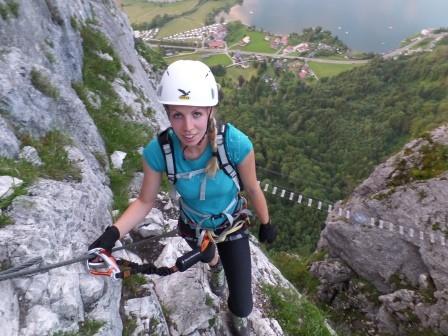 Nervenkitzel am Klettersteig Drachenwand