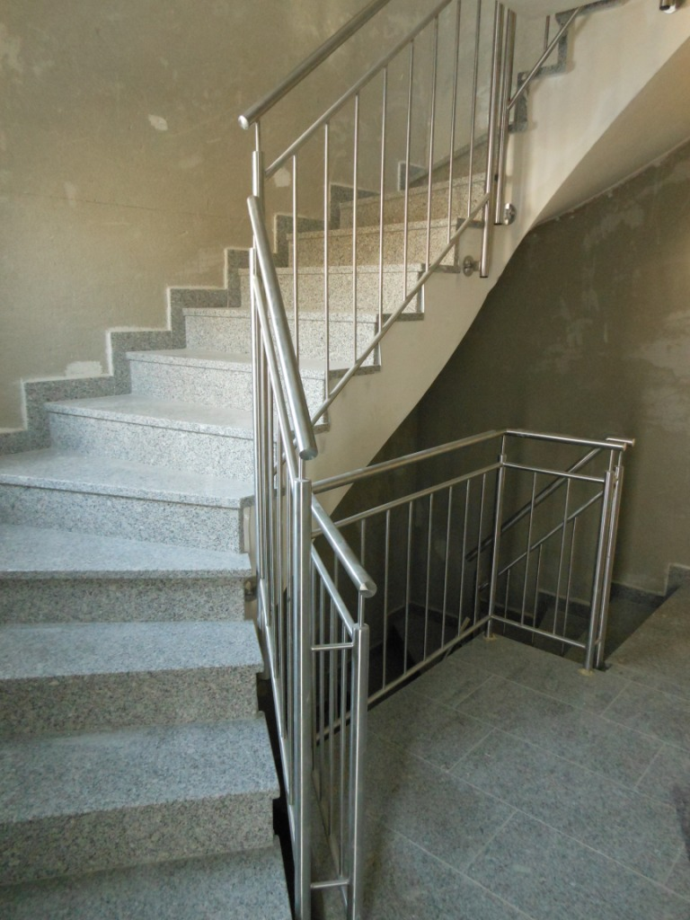 Grundputz Innenputz in einem Treppenhaus