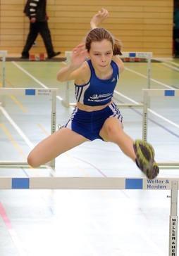 Nathalie Ryll beim Hürdensprint