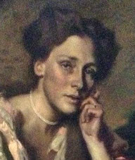 Gertrud Simms, geb. Sauber, * 1873; † 1936, Hugo von Habermann 1904, gest. 1936