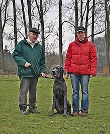 Catherina und Helmut Fluthgraf mit Mia