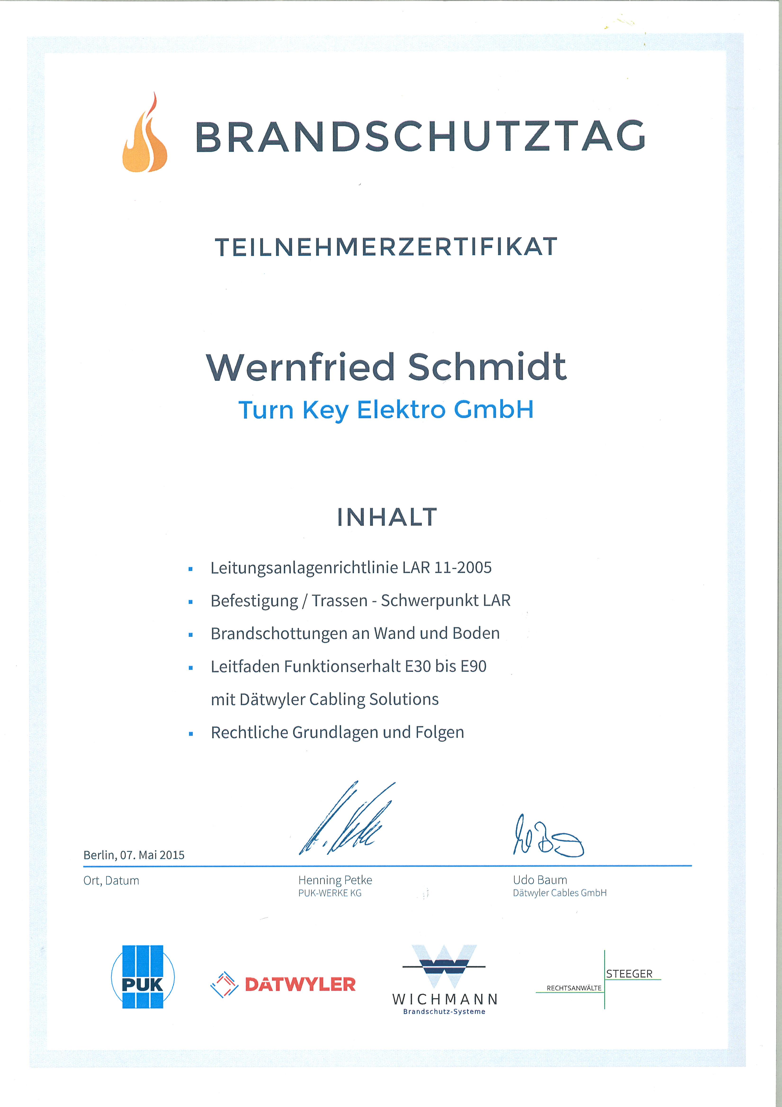Brandschutztag W. Schmidt