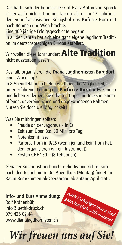 Diana Jagdhornisten Burgdorf - dianajagdhornistens Webseite!