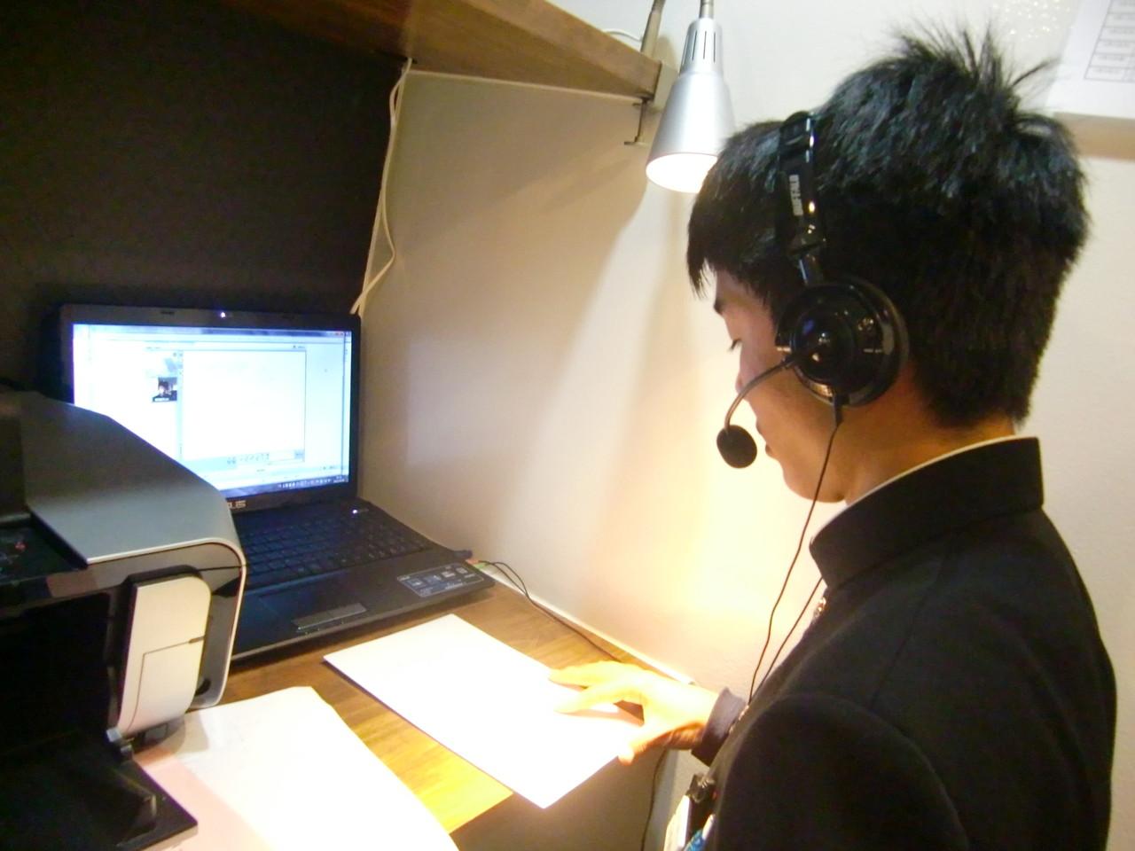東大生へテレビ電話