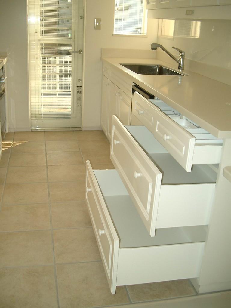 Iさんの家(麻生区)キッチン収納 引き出し