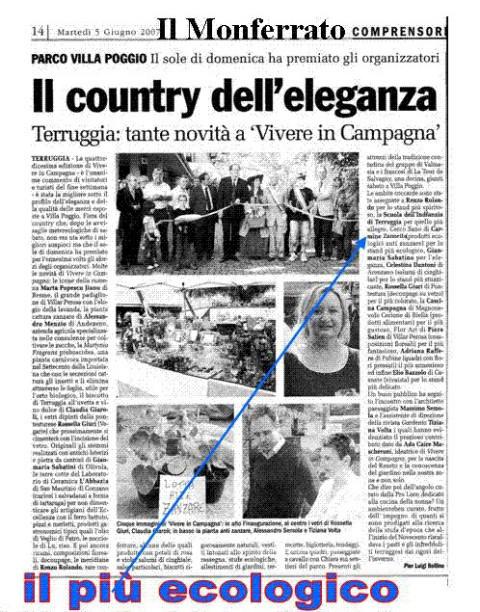 """Nel 2007 il Biolady è stato premiato A Terruggia Monferrato(AL) durante la manifestazione """"Vivere in Campagna"""" svoltasi nei giorni sabato 02/06/2007 e domenica 03/06/2007"""
