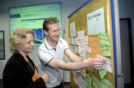 Workshop am Duisburg Learning Lab mit Britta Voß und Jörg Stratmann