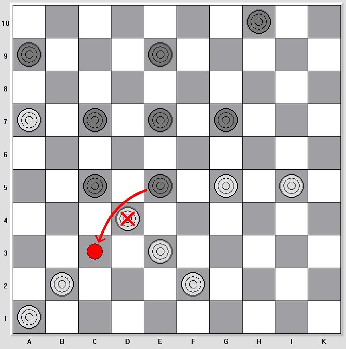 Damespiel 10x10 Rätsel