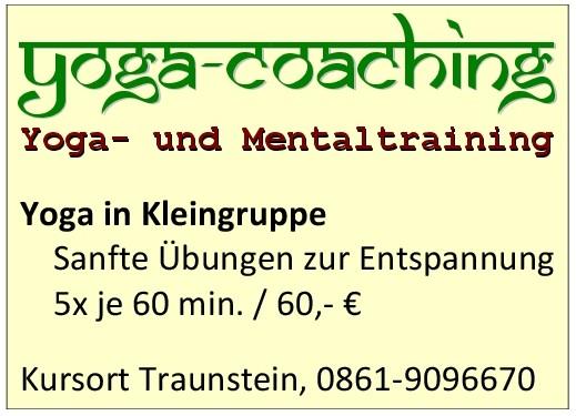 Yogakurs Traunstein im Chiemgau