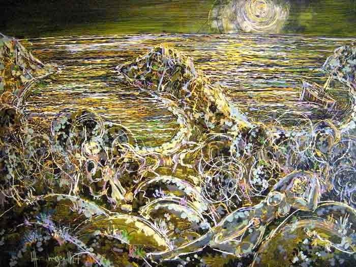 Paysage Grec 60x80 Acrylic sur Isorel  800€