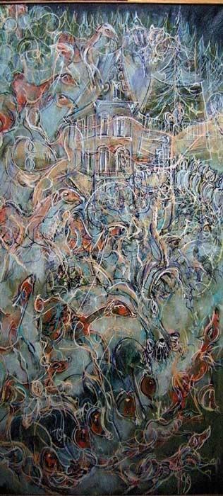 Bârenhutte 67 x 145 Acrylic sur toile  1800€