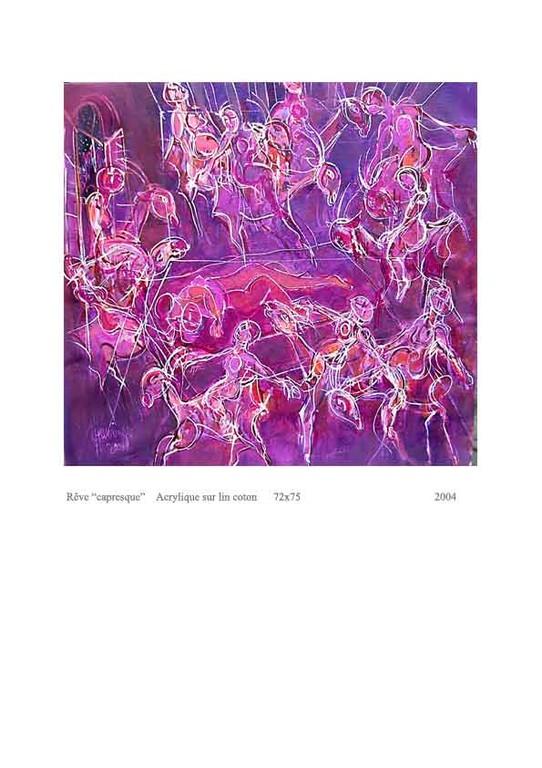 Rêve capresque  acrylic sur lin 72x75  500€
