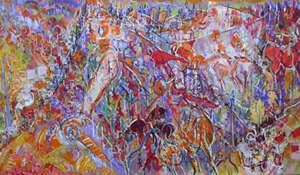 Hommage à Fiebig 82 x 140  Acrylic  900€