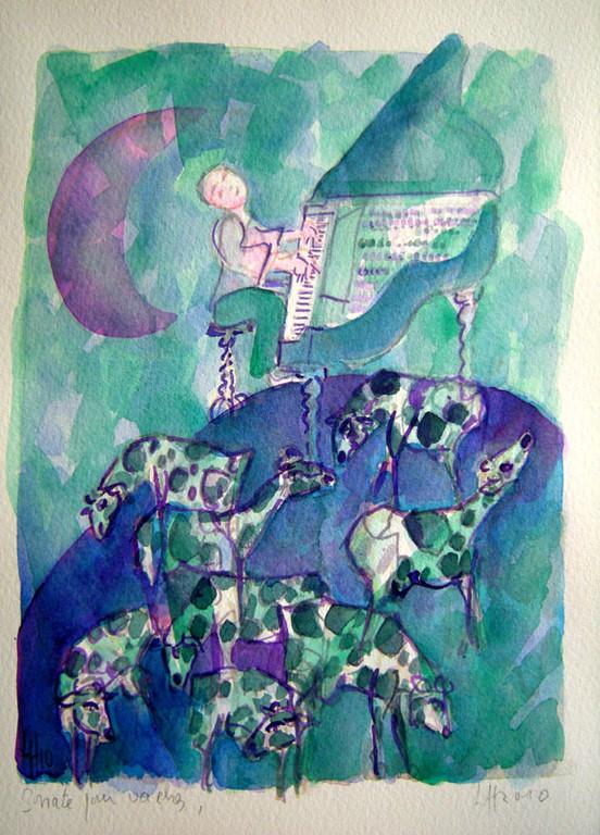planète vaches et pianiste