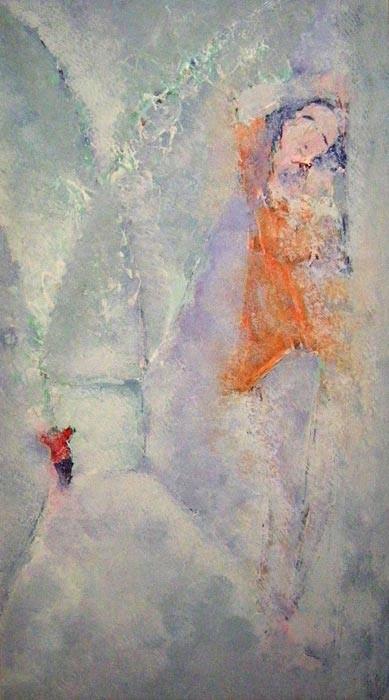 Chaise Dieu (écho) 35 x 65 Acrylic sur toile 800€