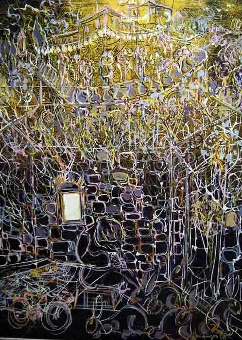 Les lapins de Michele 60x80 Acrylic sur Isorel  800€