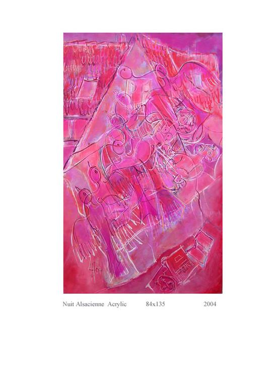 Nuit alsacienne 134 x 84 Acrylic 1800€