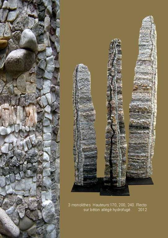 3 monolithes recto