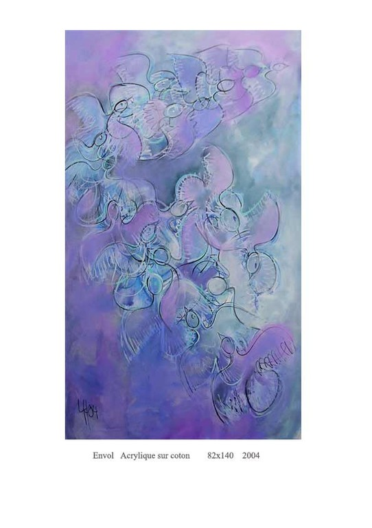 Oiseaux bleus   82 x 140  1800€