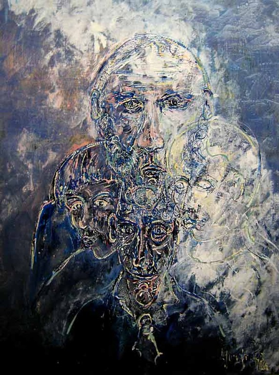 Quaternité 70x90 Acrylic sur toile  1200€