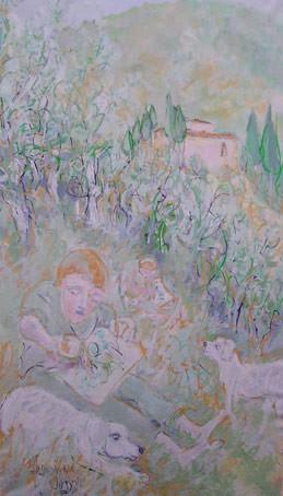 Apprentis peintres 83 x 140  Acrylic   900€