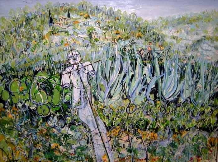 Jardin 50x70 Huile sur toile 1000€