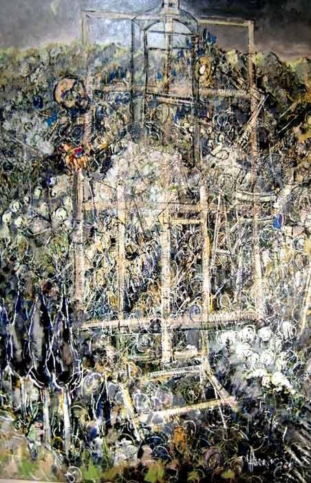 Autoportrait 100 x 150 Huile sur toile  1800€