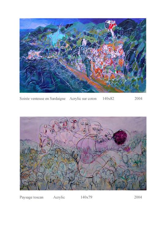 Soirée venteuse et paysage toscan140 x 82 et 140 x 79 1800€ et 1200€