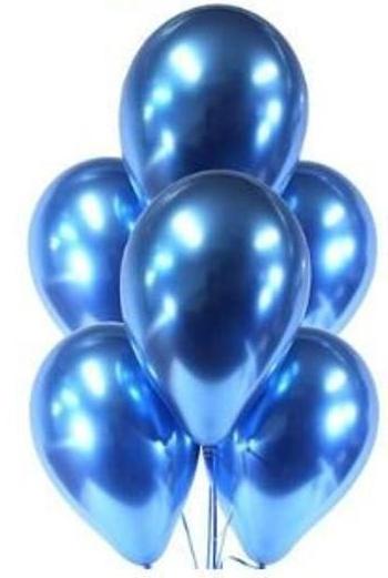 balon chromowy niebieksi