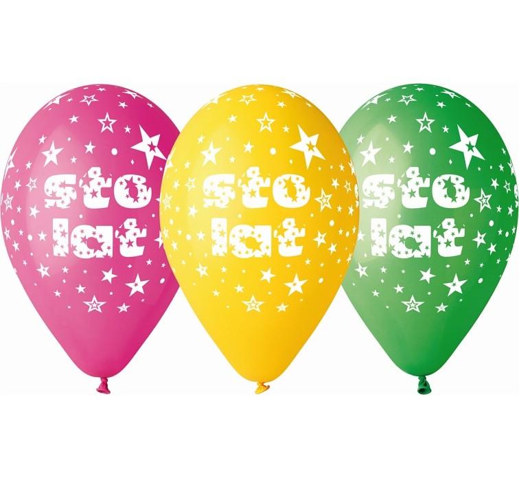 "balon ""STO LAT"" 2 zł / szt lub 5 zł z helem"