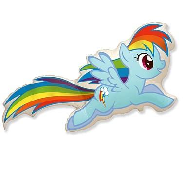 Balon Pony Rainbow Dash duży. Cena z helem 19 zł